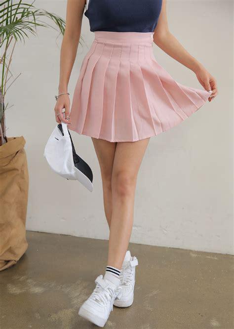 stylenanda zippered high waist tennis skirt kstylick