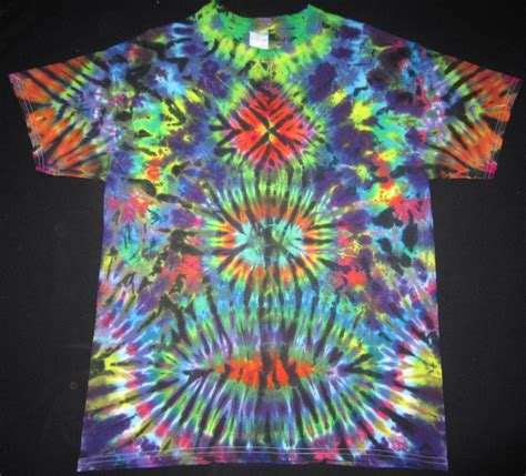 psychedelic stax tie dye t shirt fits s large