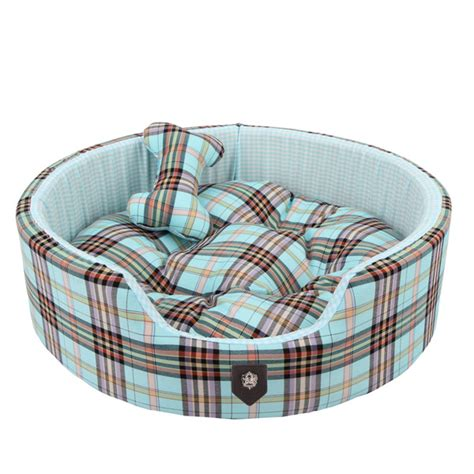 small dog beds classic preppy dog bed blue cute beds for small dogs at