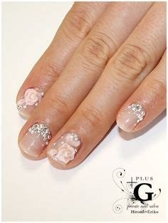 3d Wedding Nails W Rhinestone Kuku Palsu Nail Wd0002a wedding nails on wedding nails bridal nails and bridal n