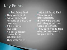 College Athletes Should Get Paid Essay by Should College Athletes Be Paid