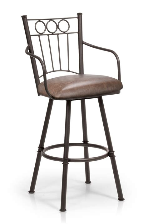 Traditional Bar Stools With Arms by Trica Charles Swivel Stool W Arms Ring Back Design