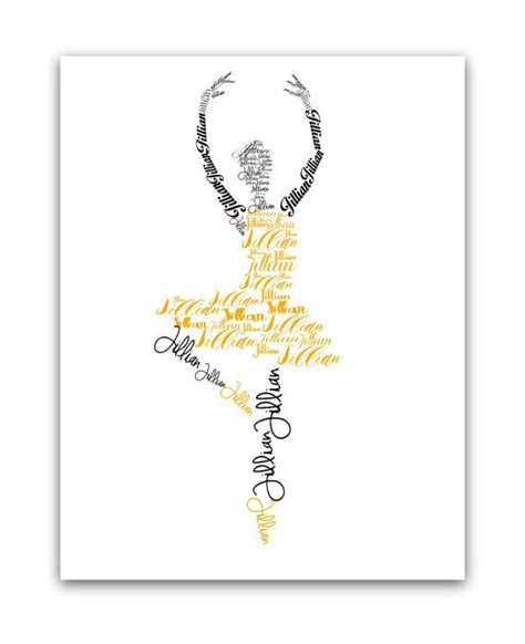 dance themes names personalized ballerina name art ballet gifts girls room