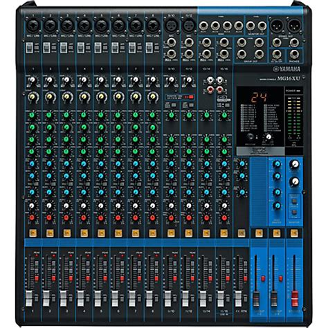 Mixer Yamaha 16 Channel Malaysia yamaha mg16xu 16 channel mixer musician s friend