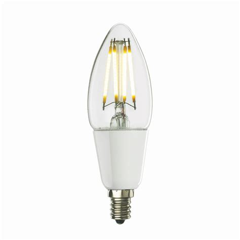 filament light bulb chandelier bulbrite 4w dimmable led filament b11 chandelier bulb