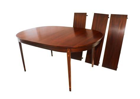 henkel harris inlaid mahogany oval dining table