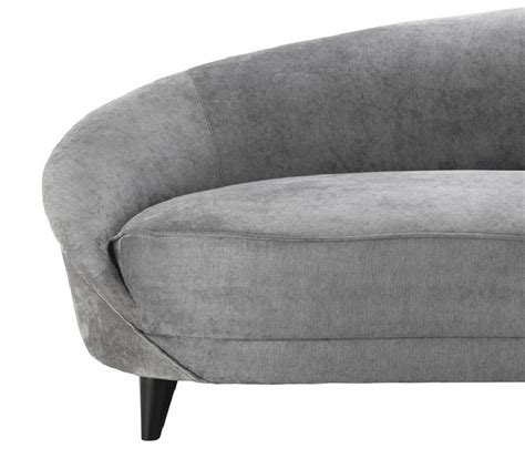 50s style leather sofa the grey velvet sofa jasper large sofa in grey velvet