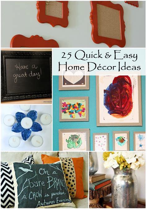 quick decor 25 quick and easy diy home decor ideas rural mom