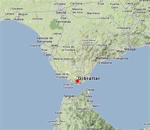 strait of gibraltar on map