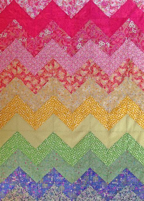 pattern chevron rainbow quilt pattern instant
