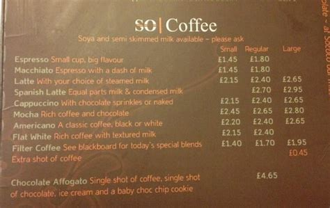 Menu Coffee Toffee chocolate fondue for two picture of so coco inverness tripadvisor