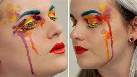 watercolor eyeshadow tutorial watercolour paint inspired make up tutorial ft