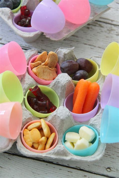 easter egg bento lunch ideas smashed peas carrots