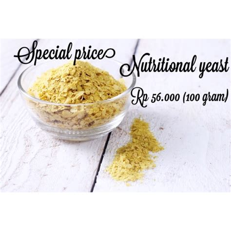 nutritional yeast ragi keju shopee indonesia