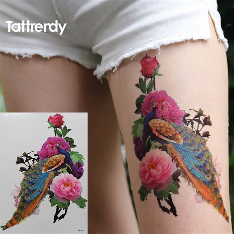 flash tattoos aliexpress aliexpress com buy 2016 new peacock peony 3d temporary