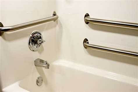 bathtub assist bars grab bar safety tips agingcare com