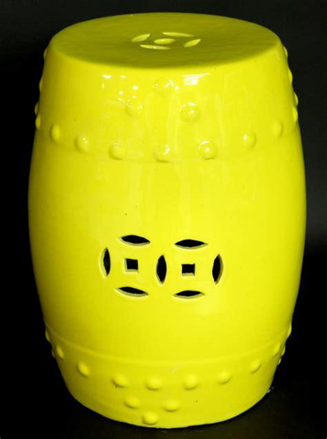 yellow garden stool ceramic garden stool yellow porcelain side stand table ebay