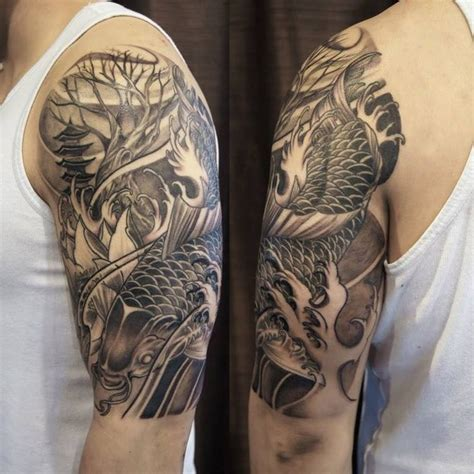 japanese full sleeve tattoo designs chronic ink toronto koi fish half sleeve