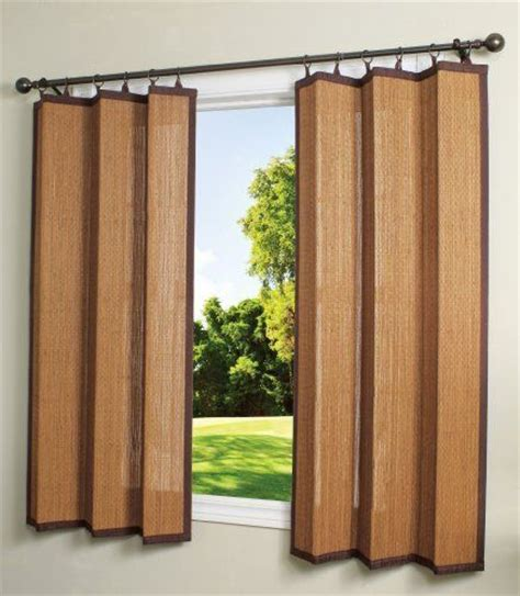outdoor bamboo curtains bamboo ring top curtain brp12 40 inch l x 63 inch h indoor