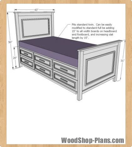 twin storage bed plans free woodworking patterns christmas simple home