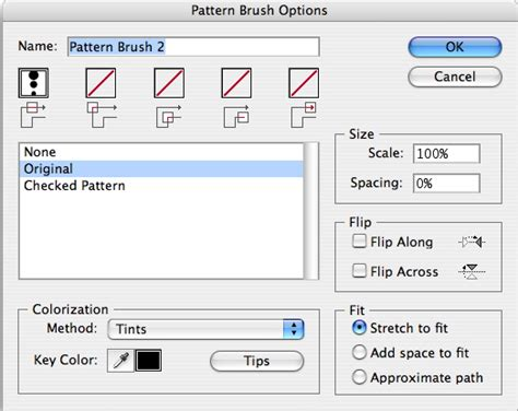 pattern brush options pattern brushes in illustrator part one george ornbo
