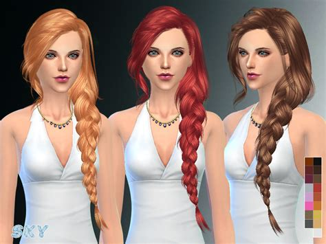 sims 3 hair braid tsr the sims resource over skysims hair 257