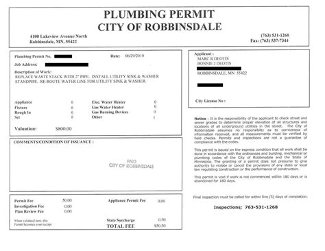 Plumbing Permit by Plumbing Endeavor Part 1 The House Strikes Back