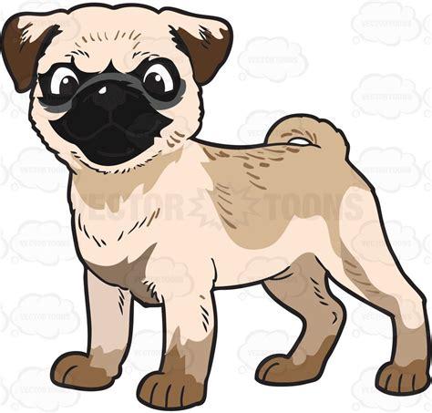 pug clip a baby pug vector clip