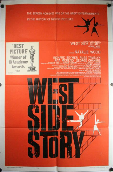 hairstyle posters for sale west side story original pre awards style saul bass movie