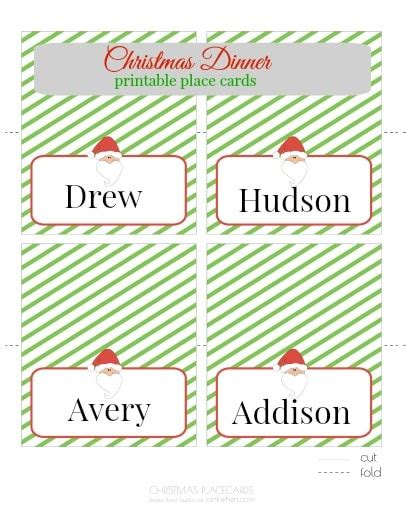 dinner place name cards template printable place cards pinkwhen