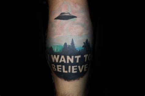xfiles tattoo 50 i want to believe designs for x files