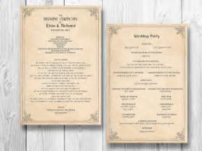 order wedding ceremony program retro wedding program order of service by designedwithamore