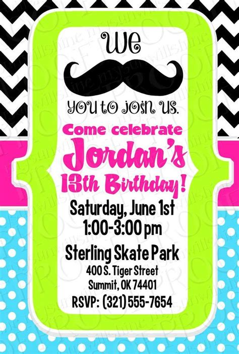 mustache birthday card template imposing mustache birthday invitations theruntime