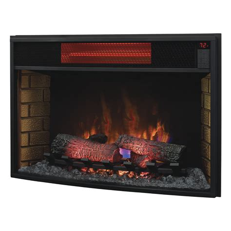 classic fireplace insert classic 32 quot 32ii310gra curved infrared electric