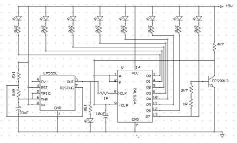 membuat lu led tulisan berjalan 8 led berjalan running led with 74ls164 shift register