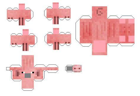Minecraft Papercraft Pig - papercraft pig