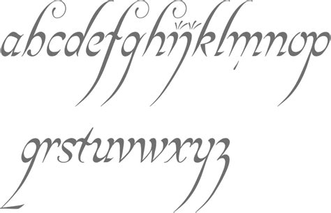 elvish style english font my style pinterest english