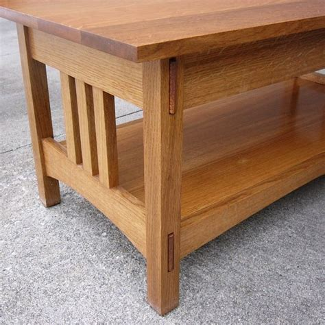 Oak Mission Coffee Table Handmade Quartersawn Oak Mission Style Coffee Table And End Table By Dave S Quality Furniture