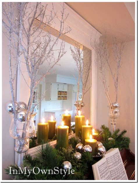 sparkly glitter branches for holiday decorating in my