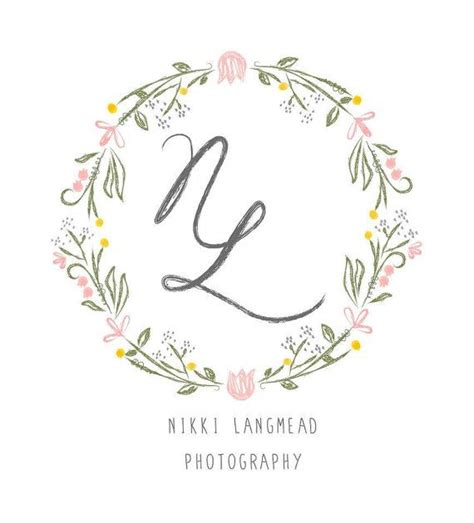 design free wedding logo custom logo design vintage hand drawn feel pretty