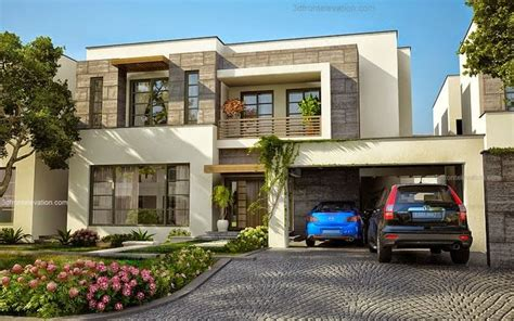 contemporary home design 3d front elevation modern house plans house designs