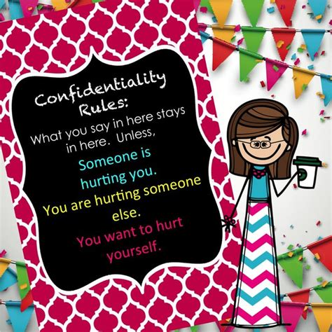 school counselor confidentiality editable confidentiality wall sign 17 x 11 for
