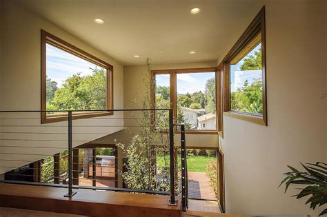 contemporary style home in burlingame california landing large windows modern home in burlingame california