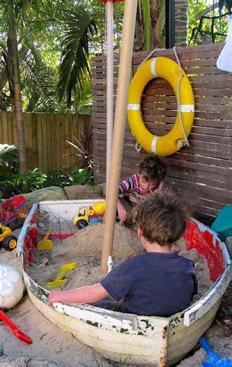 backyard sandbox ideas 15 clever ideas for reuse boats amazing diy interior