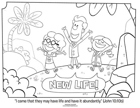new life john 10 10b coloring page whats in the bible