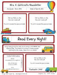 Free Elementary School Newsletter Template by Custom Classroom Newsletter Printable Sle Home
