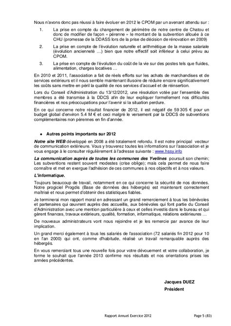 Rapport annuel exercice 2012