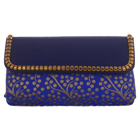 Handmade Evening Bags - handmade womens modern blue clutch purse evening bag