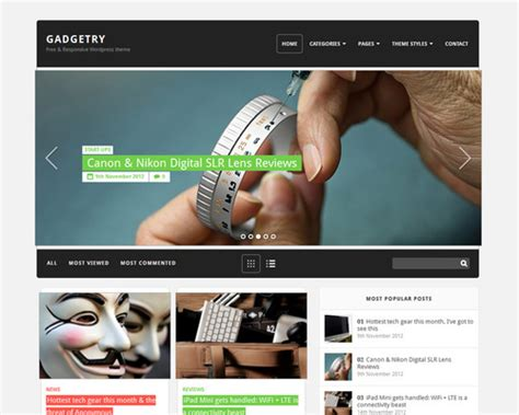 themes wordpress professional gadgetry free professional wordpress theme themeshaker com
