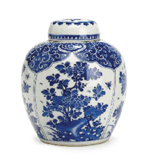 what is ginger jars a blue and white ginger jar and cover kangxi period